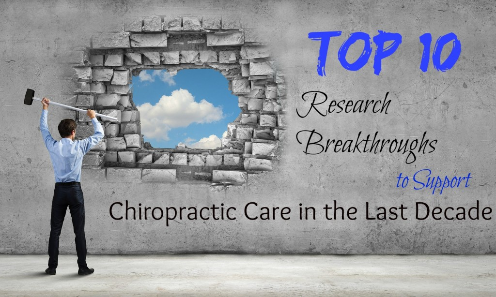 Top 10 Research Articles for Chiropractic