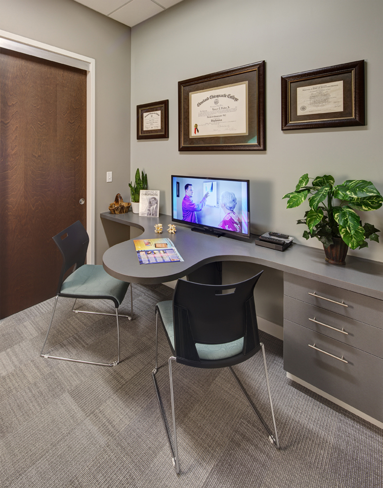 How one chiropractor created the perfect office space Chiropractic office designs