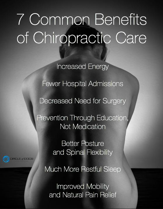 7 benefits of Chiro Care