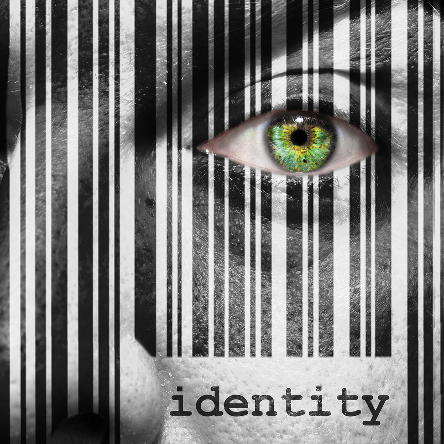 Barcode Identity Superimposed On A Man's Face